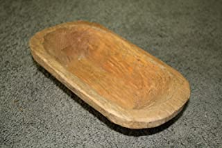 JTW Vintage Carved Wooden Dough Bowl Primitive Wood Trencher Tray Rustic Home Decor 8-10