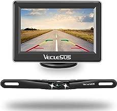 "VECLESUS Backup Camera Kit, 4.3"" TFT LCD Panel Display with 149° Golden Viewing Angle, Super Night Vision, IP68 Waterproof License Plate Backup Camera for All Cars, Vans, Pickup Trucks"