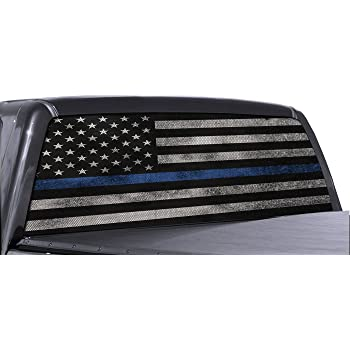 Pick-Up Truck Perforated Rear Window Wrap Blue Leaf It