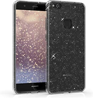 kwmobile Case Compatible with Huawei P10 Lite - Clear TPU Soft Smartphone Cover - Glitter Uniform Transparent transparent ...