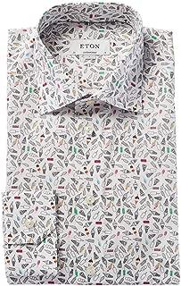 Mens Contemporary Fit Dress Shirt, 41, White