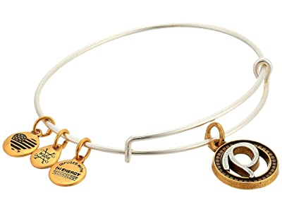 Alex and Ani Initial P Charm Bangle (Two-Tone) Bracelet