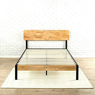 Tuscan Metal & Wood Platform Bed With Wood Slat Support Queen Strong And Stylish - Skroutz Deals