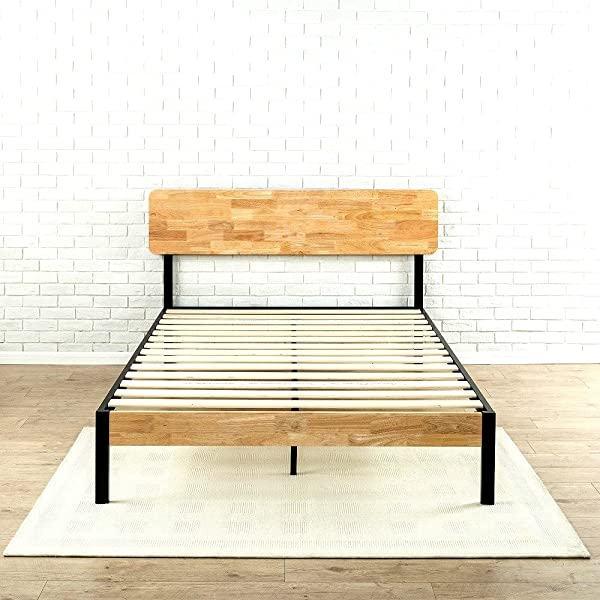 Tuscan Metal Wood Platform Bed With Wood Slat Support Queen Strong And Stylish Skroutz Deals