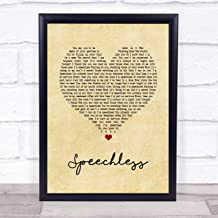 "123 BiiUYOO Dan + Shay Speechless Vintage Heart Song Lyric Print 12"" x 10"" Inches"