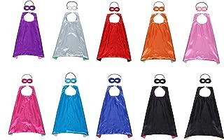 Kostüm für Kinder Kostüme Party Favors Set von 10 - 10 Satin Capes und 10 Masken