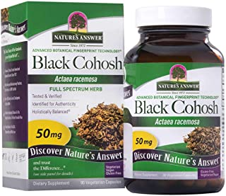 Natures Answer Black Cohosh Root Powder 50mg 90 Vegetarian Capsules | Menopausal Support | Hot Flash Relief | Promotion of...