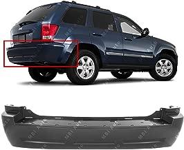 MBI AUTO - Primered, Rear Bumper Cover for 2005-2010 Jeep Grand Cherokee 05-10, CH1100865