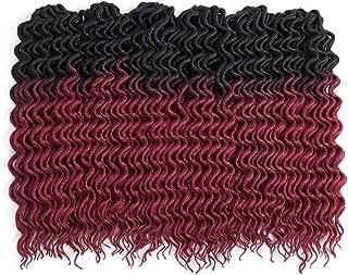 (6Packs)18inch Curly Faux Locs Soft Hair Twist Braids Crochet Braiding Hair Braids Mambo Hair Extension 24Roots/Pack (18inch, OTBG)