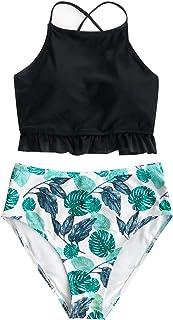 CUPSHE Women's Lingering Charm High-Waisted Bikini Set Beach Swimwear Bathing Suit
