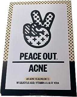 Peace Out Acne Dots - 40 Acne Healing Dots - w/ Salicylic Acid, Vitamin A & Aloe Vera w/ Bonus Cute Facial Scrub
