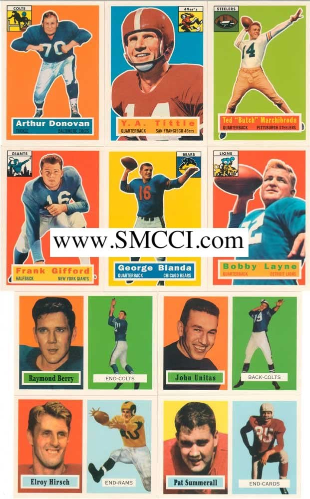 1994 Topps Archives Football 1956 1957 Reprint Complete Mint Los Angeles Mall 2021 and
