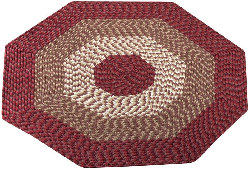 Ranking TOP18 Mail order cheap Collections Etc Versatile Alpine Braided Rug 3-Tone with Accent