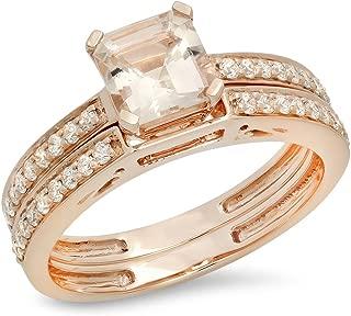 Best 14k asscher morganite diamond ring Reviews