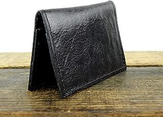 Black Leather Minimalist Wallet with RFID Blocking
