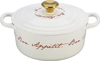 Le Creuset Signature Enameled Cast-Iron 4-1/2-Quart Round French (Dutch) Oven, White