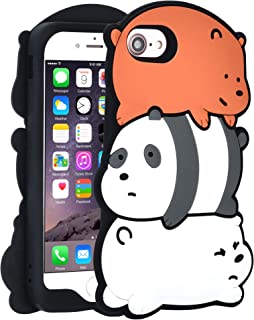 "TopSZ Bears Case for iPhone 8/iPhone 7/iPhone 6/6S 4.7"" Silicone 3D Cartoon Hero Animal Cover,Kids Girls Teens Boys Man Cool Fun Cute Kawaii Soft Rubber Funny Character Cases for iPhone8/7/6/6S"