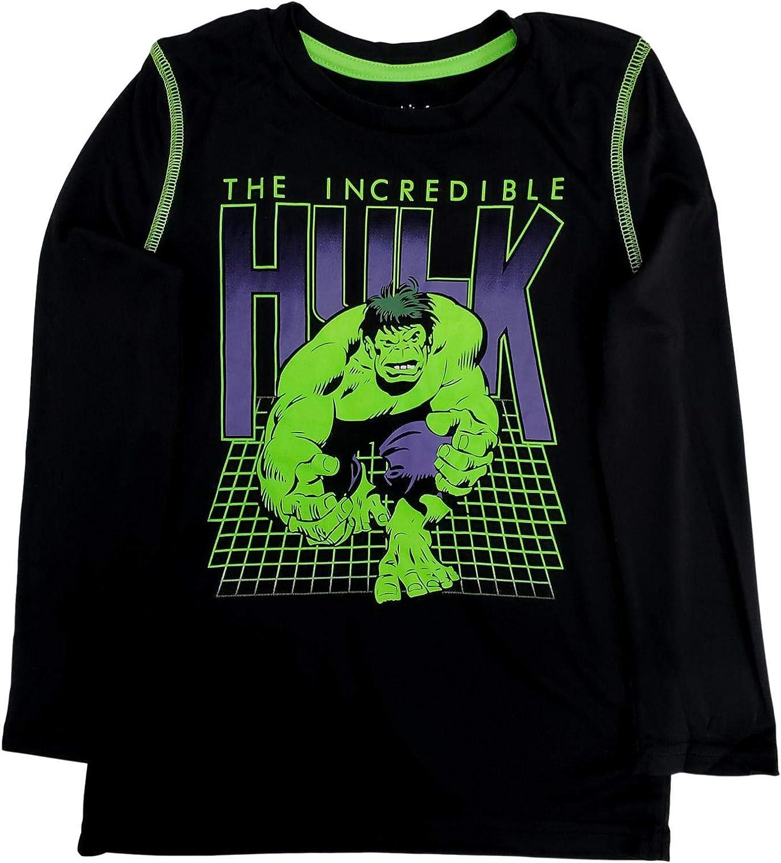 Incredible Hulk Boys Silky Black Long Sleeve T-Shirt Tee Shirt