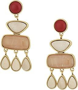 Lucky Brand Set Stone Statement Earrings