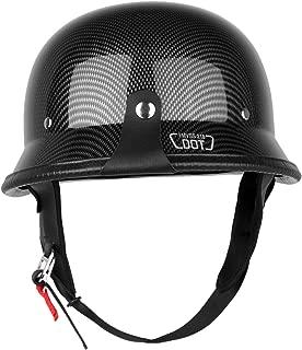 Iglobalbuy Half Helmet DOT Carbon Fiber German Style Motorcycle Cruiser Custom Airsoft Paitball Biker M/L/XL (XL)