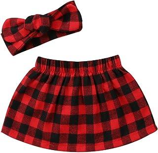 f79b5ab1e5 Baby Christmas Clothes Baby Girl Plaid Skirt Dress Classic Plaid Xmas Dress  Outfits Year Check Costume