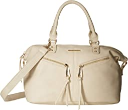 Zipper Top-Handle Satchel