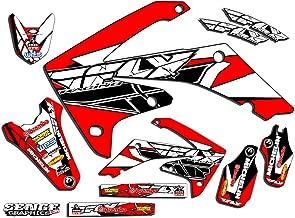 Senge Graphics Kit Compatible with Honda 2004-2010 CRF 80/100 Fly Racing Red Graphics kit