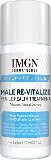 Male Re-Vitalize Penile Health Relief Cream Soothe & Protect Red Irritated Chaffed Skin TSA Compliant Travel Size (3.3fl oz/ 100ml))