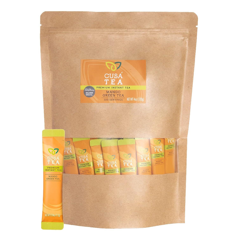 Cusa Tea Max 52% OFF Coffee Mango Green Made Wit Instant Tea. Premium New popularity