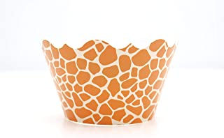 Giraffe Print Party Supplies Cupcake Wrappers (12 Pack) - Baby Shower Safari Theme Party Favors, Animal Print Jungle Decor...