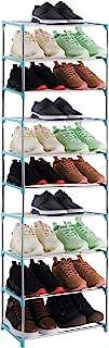 Xerhnan 10-Tier Stackable Small Shoe Rack, Lightweight Shoe Shelf Storage Organizer for..