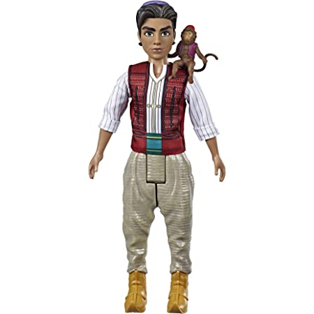 Disney Princess Aladdin Fashion Doll with Abu, Inspired by Disney's Aladdin Live-Action Movie, Toy Doll for Kids 3 Years Old & Up