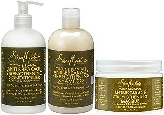 Shea Moisture Yucca & Plantain Hair Care Set II - Anti-breakage Shampoo, Anti-Breakage Conditioner & Anti-breakage Masque