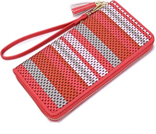 Women Wallet Phone wristlet Ladies Clutch Long Purse with Wrist Strap