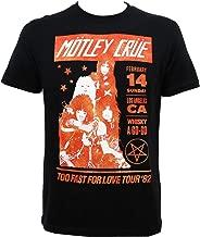 Global Motley Crue Men's Vintage Whisky a Go Go Black T-Shirt