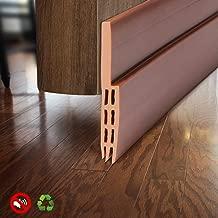 BAINING Door Draft Stopper Sweep, Silicone Door Seal Strip, Under Door Noise Blocker, with 3M VHB Adhesive Backing, 2