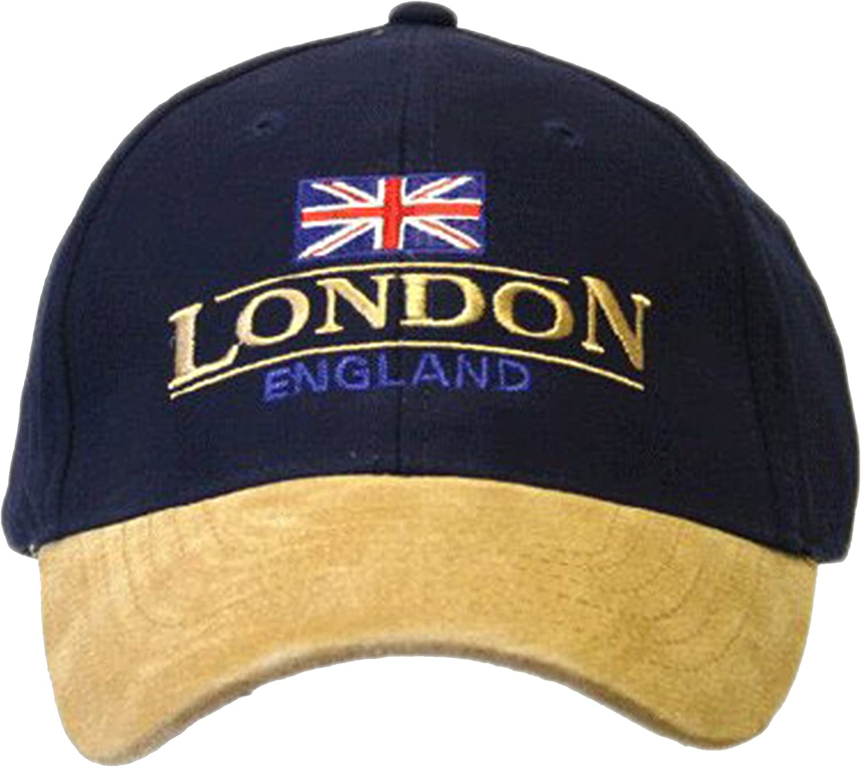 England London Baseball Cap Suede Cap with Adjustable Strap