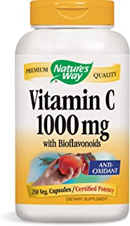 Nature's Way Vitamin C 1000 with Bioflavonoids, 250 Vcaps