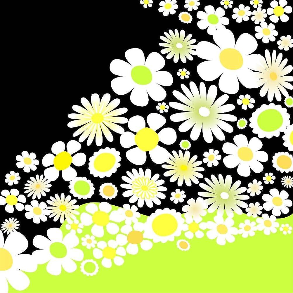 奇跡つかいます紫のポスター ウォールステッカー 正方形 シール式ステッカー 飾り 60×60cm Msize 壁 インテリア おしゃれ 剥がせる wall sticker poster フラワー 花 フラワー 黄緑 005815