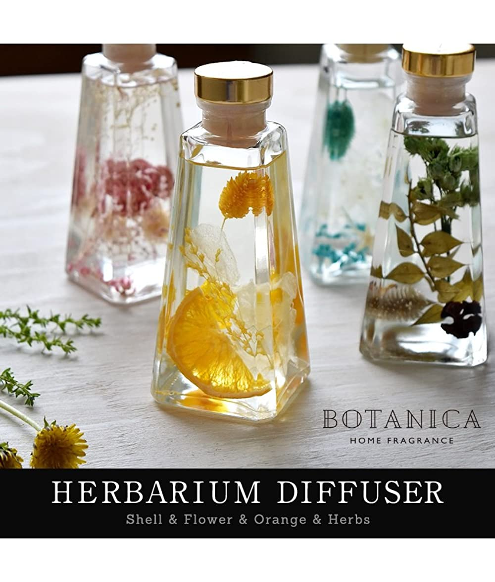 メトロポリタン定義する縮れたボタニカ ハーバリウム ディフューザー 【オレンジ/Bright Orang】 ホームフレグランス