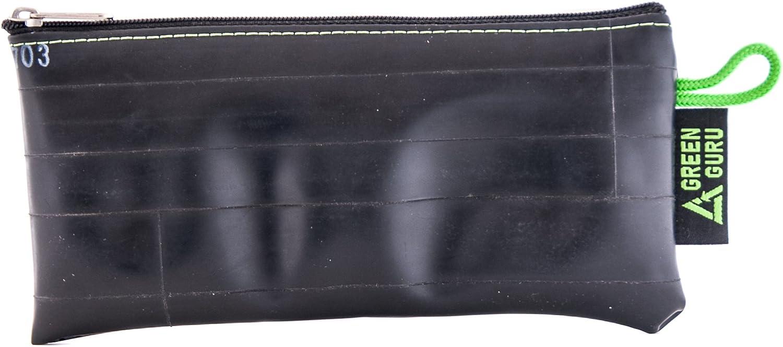 Soft Fabric Liner Black GREEN GURU Zippered Pouch Bag