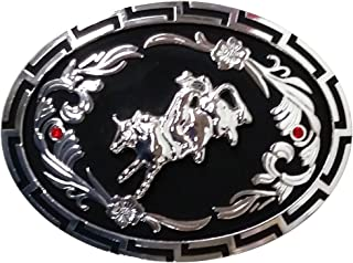 Modestone Trophy カウボーイベルト Buckle Cowboy Rodeo Bull Rider 2 Ruby-Like Stones