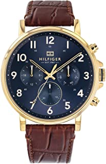 Tommy Hilfiger Daniel Men's Blue Dial Leather Band Watch - 1710380