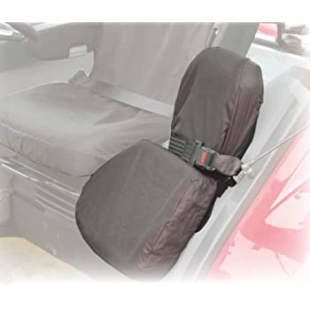 XtremeAuto Tractor Seat Cover Black With Blue Stripe Detailing Waterproof Arm Rest Compatible Large Heavy Duty