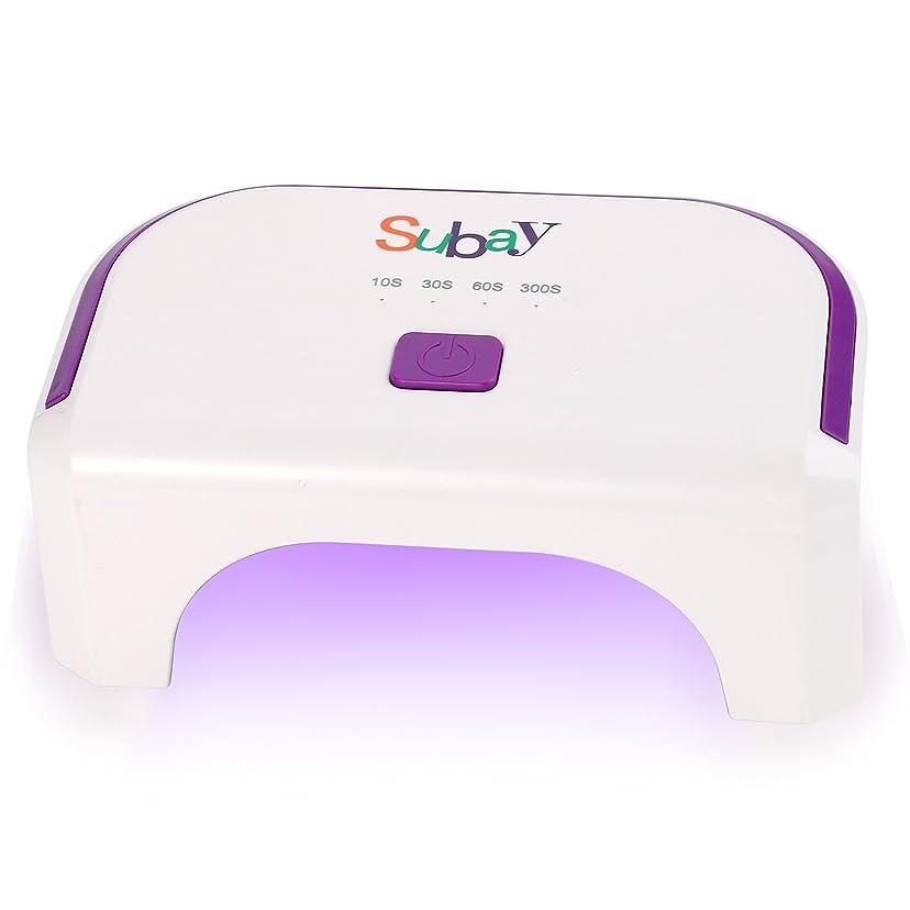 置くためにパック常にラオス人12W LED ネイルドライヤー ジェルネイル硬化用 四つタイマー設定可能 小型 ライト (白)