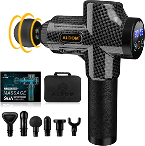 ALDOM Massage Gun Deep Tissue, Muscle Massager, Percussion Massager Handheld Electric Body Massager for Athletes, Bac...