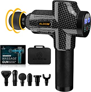 ALDOM Massage Gun Deep Tissue, Muscle Massager, Percussion Massager Handheld Electric Body Massager for Athletes, Back Nec...