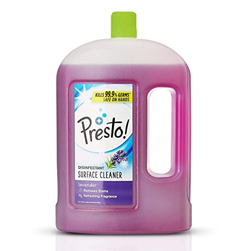Amazon Brand - Presto! Disinfectant Floor Cleaner Lavender, 2 L
