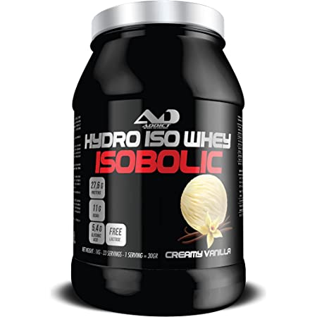Whey Protein Isolate | Protéines Whey Isolate En Poudre | Proteines Musculation Prise De Masse Pour Développement Musculaire | Hydro Iso Whey Isobolic | 1 Kg | Creamy Vanilla