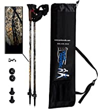York Nordic 2 Piece Adjustable Trekking/Walking Poles - Lightweight - 6 Color Options - Choice of Grips - 2 Poles, Tips & Bag